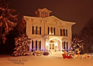 Tillinghast Manor photo of the house in the snow