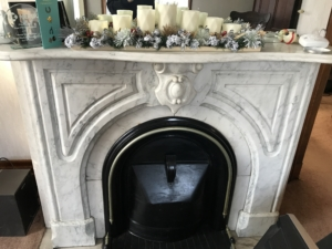 Tillinghast Manor - FirePlace in Dining Room
