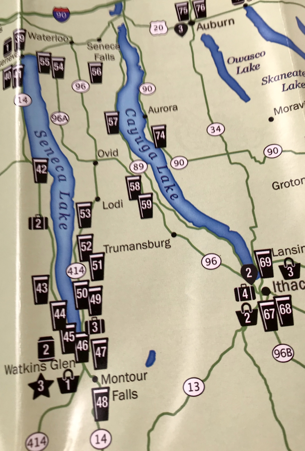 Tillinghast Manor - Map of Wineries