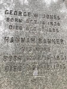 Tillinghast Manor - Grave Stone of George Jones