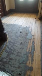 Tillinghast Manor - Hardwood Floors Before Remodel