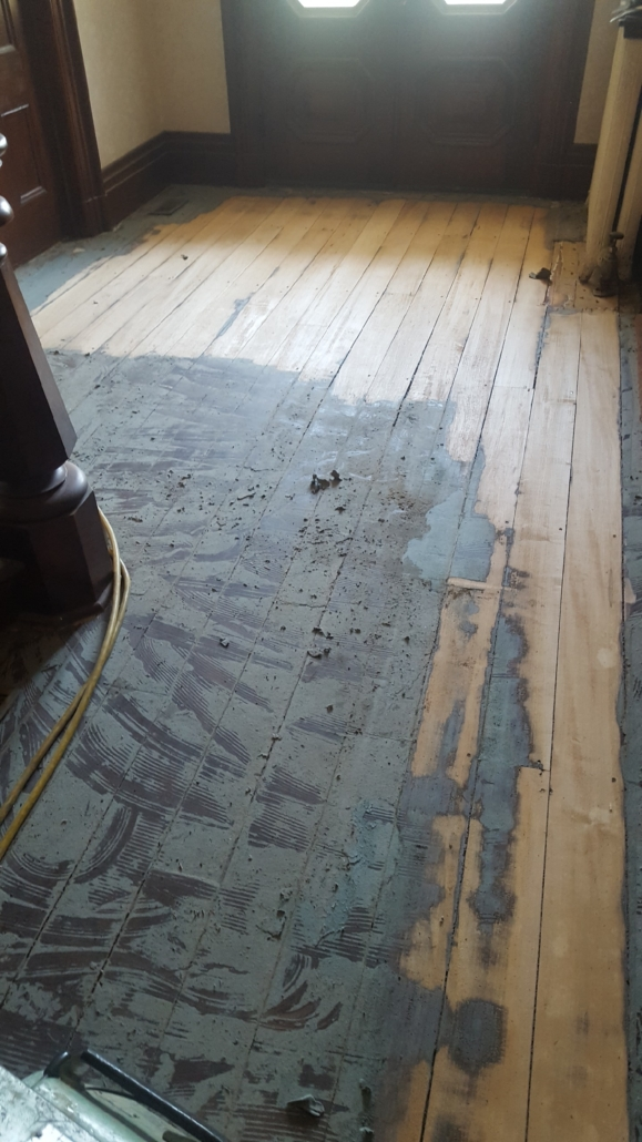 Tillinghast Manor - Hardwood Floors Before Remodel