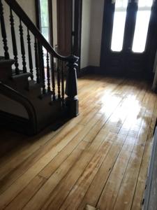 Tillinghast Manor - Hallway flooring After