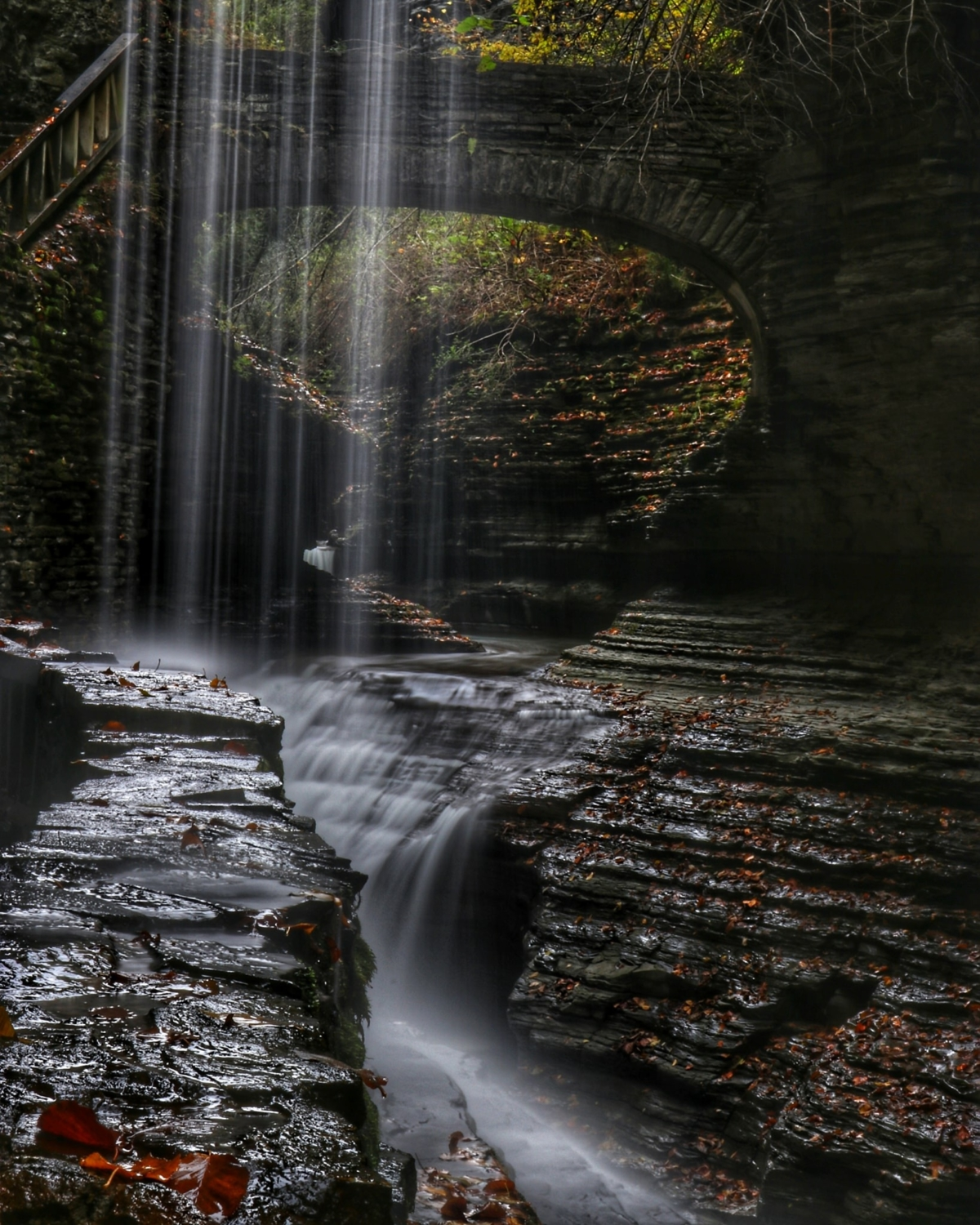Tillinghast Manor Water fall at Watkins Glen