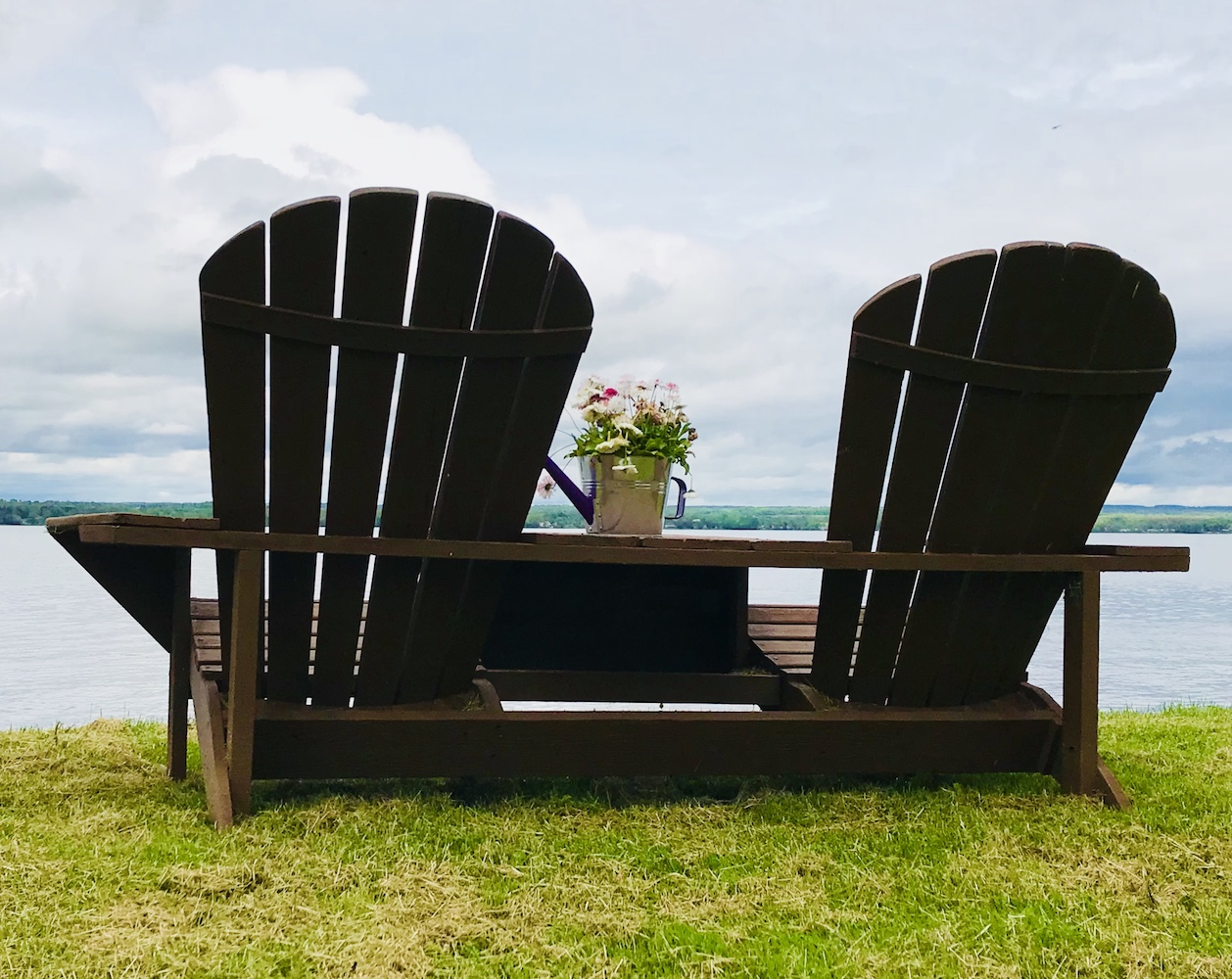 Tillinghast Manor - Cayuga Lake chairs by the lake