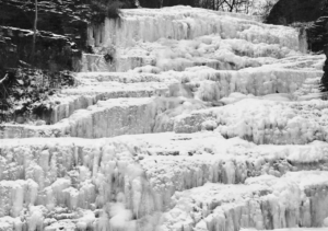 Hector Falls Ice covered falls