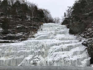 Hector Falls - Ice covered falls